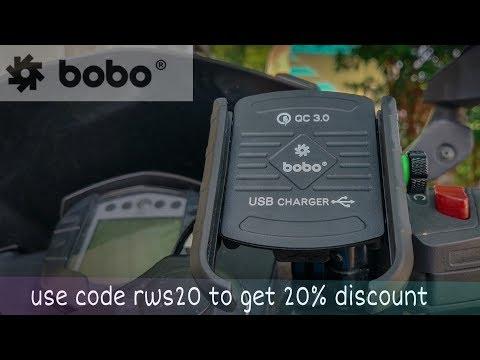 India's best bike mobile holder | jaw grip phone holder | www.bobogears.com