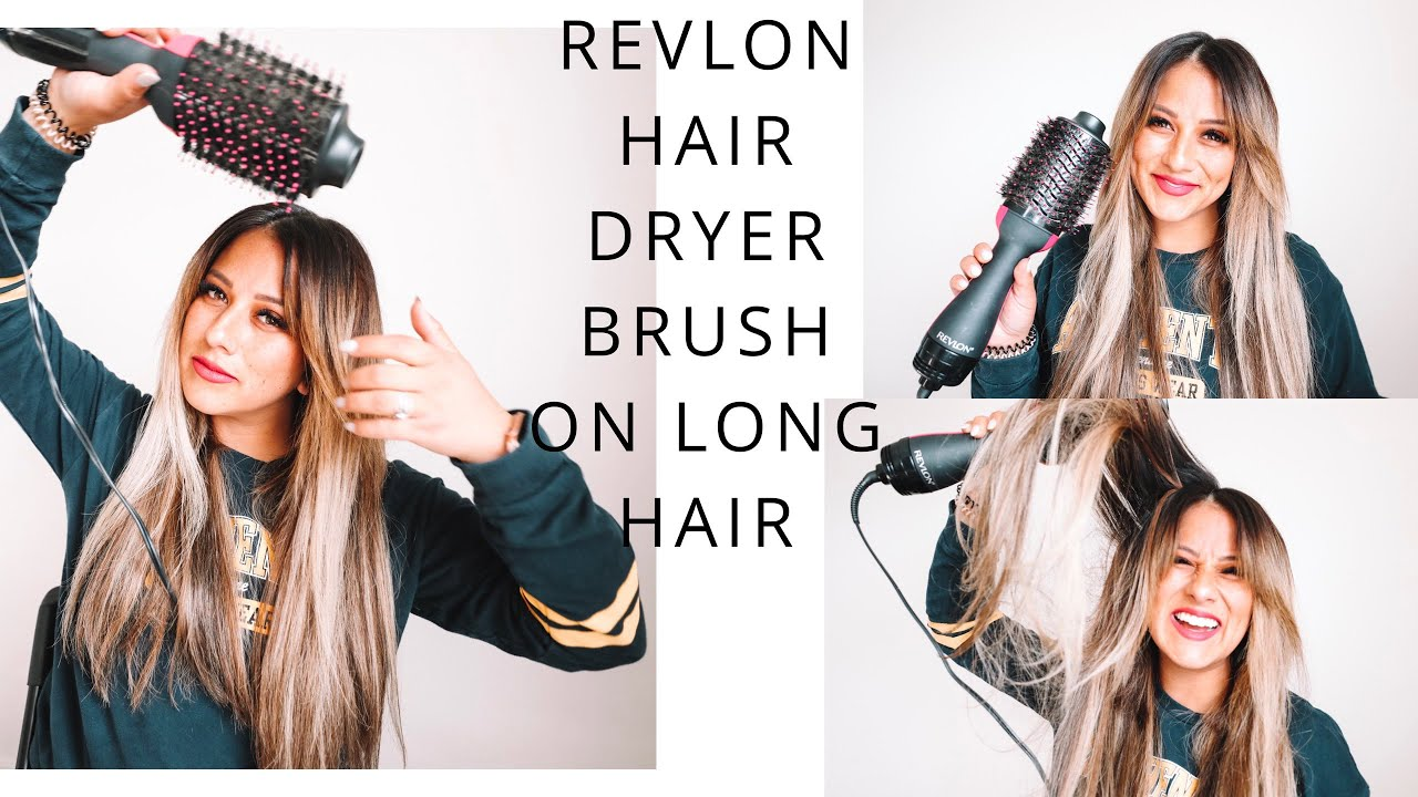 Revlon One Step Volumizer Brush on LONG hair || How I dry my hair with extensions || The Dainty Pear