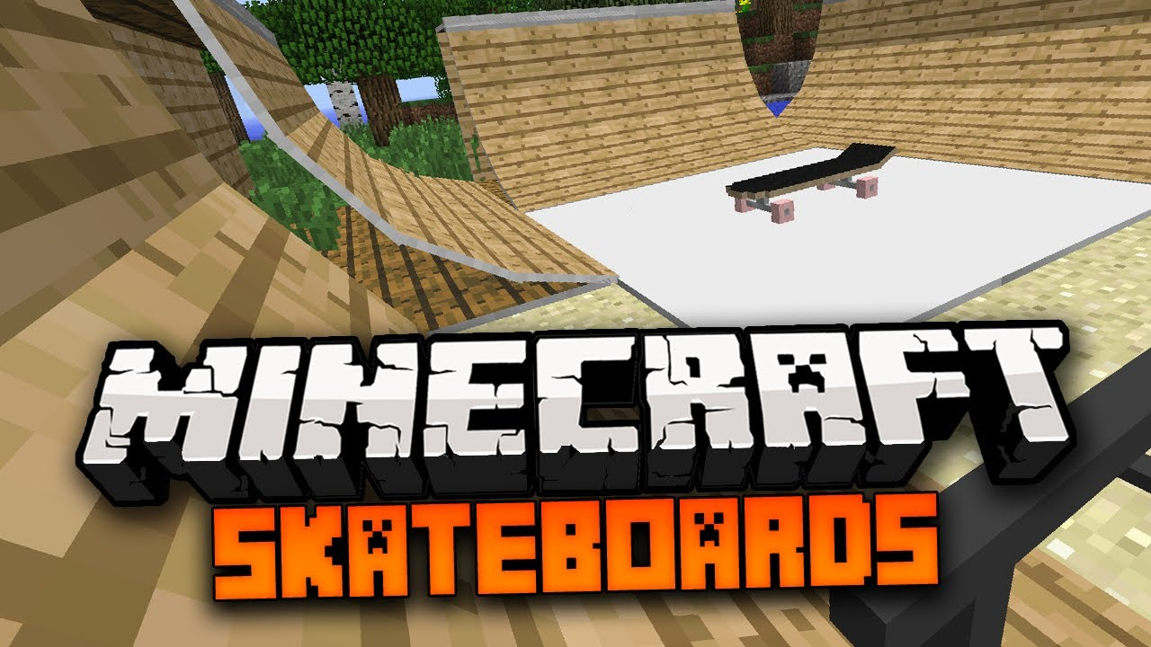 how to make a skateboard in minecraft no mods
