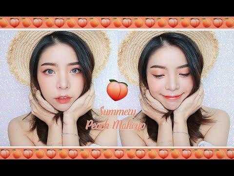Summery Peach/ Coral Makeup - MKUP One Brand Makeup Tutorial | Erna Limdaugh
