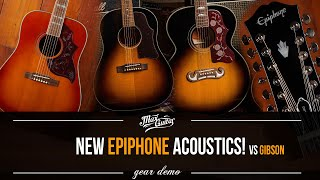 The ALL NEW 2021 Epiphone ACOUSTICS! The J200, J45 and Hummingbird. And we compare them!