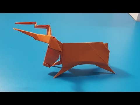 ORIGAMI - Gấp Con Tuần Lộc || How To Make Reindeer