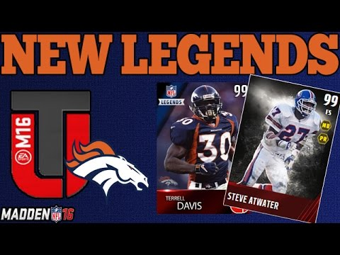 NEW MUT 16 LEGENDS | BRONCOS FT. TERRELL DAVIS | MADDEN 16 ULTIMATE TEAM