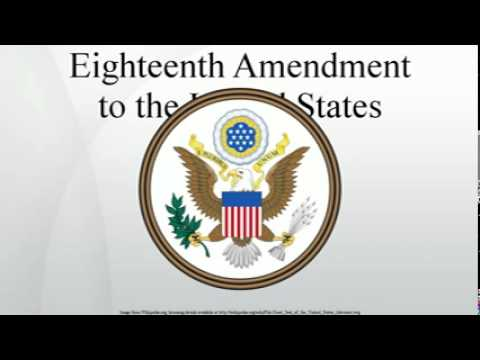 the eighteenth amendment to the constitution of the united states The eighteenth amendment to the constitution prohibited the manufacture, sale, or transport of alcoholic beverages it was the product of a temperance movement that began in the 1830s.