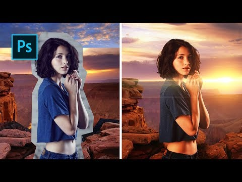 Belajar Dasar Manipulasi Foto agar Background dan Object bisa Menyatu #Photoshop Tutorial Indonesia