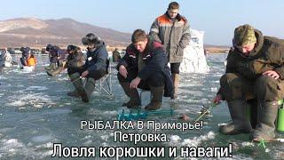 ЗИМНЯЯ РЫБАЛКА Ловля корюшки и наваги Петровка Рыбалка в Приморье