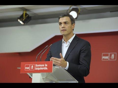 Pedro Sánchez valora en Ferraz la situación en Cataluña
