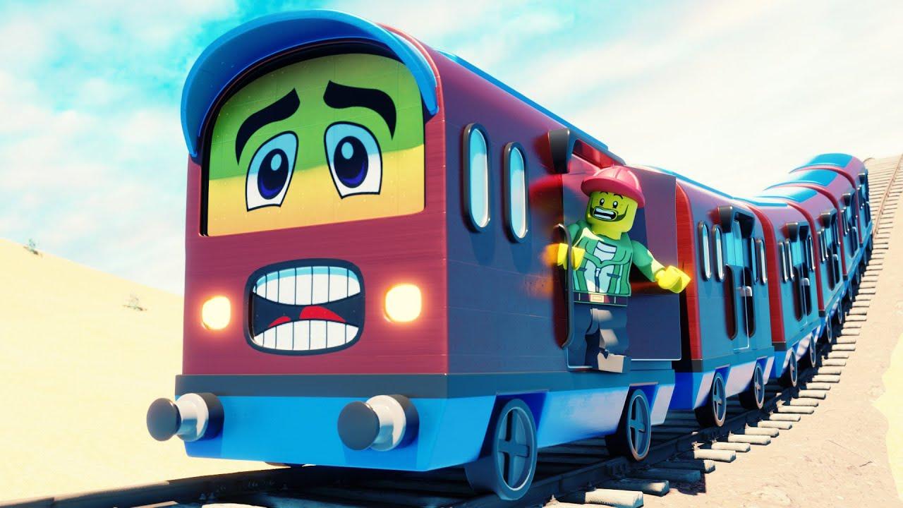Lego Train cartoon short movie🚋 - funny Lego video - choo choo train kids videos
