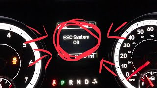 How to fully turn off the ESC on the RAM 1500 if equipped