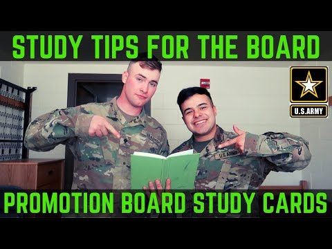 BEST WAY TO STUDY FOR AND PASS THE PROMOTION/SOLDIER OF THE MONTH BOARD (2019)