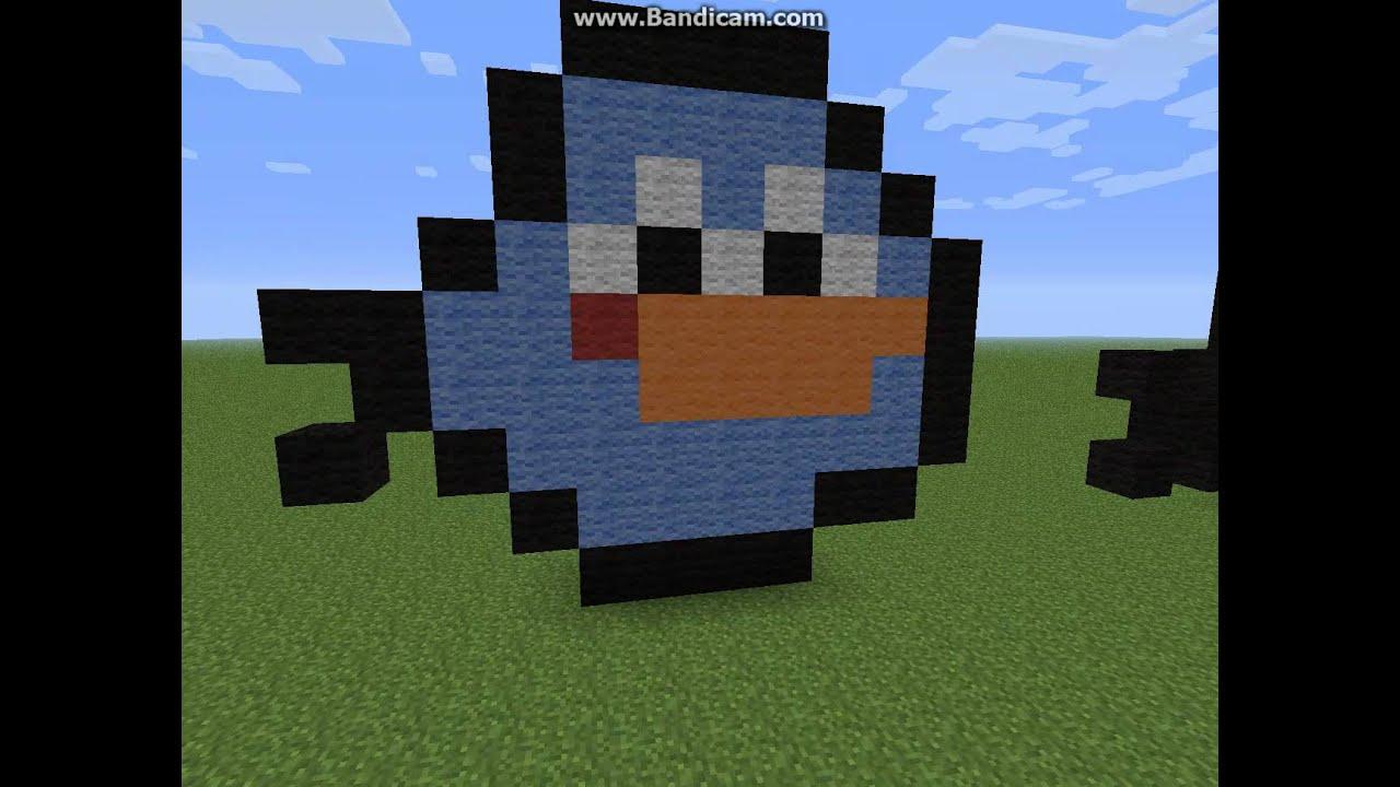 птица в майнкрафте постройка