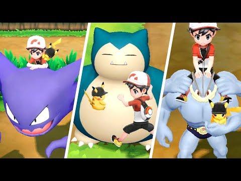 Pokémon Let's Go Pikachu & Eevee - All Rideable Pokémon