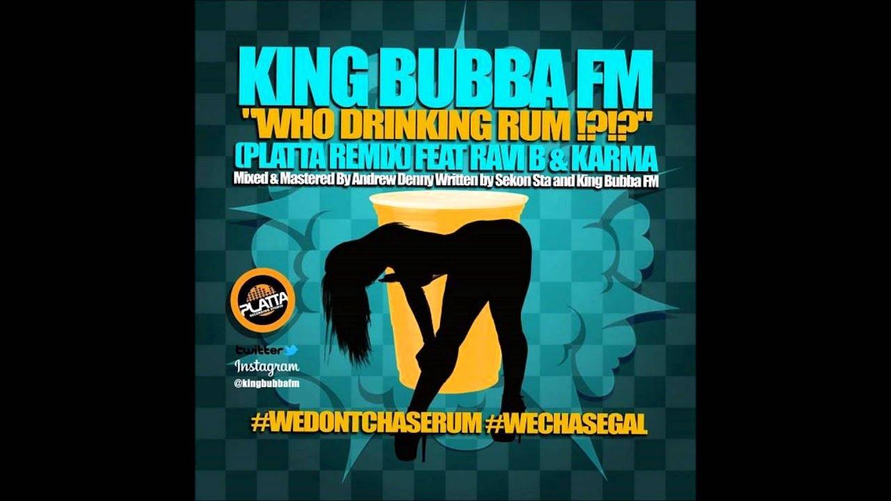 Who Drinking Rum I Drinking Soca