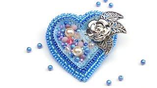 Брошь из бисера своими руками Сердце