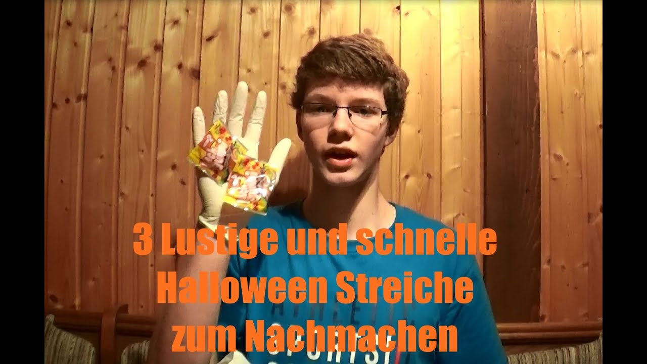 3 lustige und schnelle halloween streiche youtube. Black Bedroom Furniture Sets. Home Design Ideas
