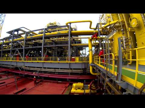 Timelapse IRATA Tyrolean (Tensioned Lines) @ FPSO Aseng