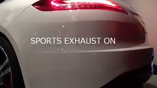 ポルシェパナメーラ スポーツエグゾーストの検証動画です。