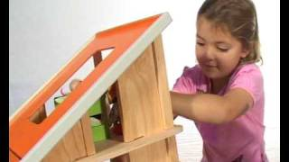 Plantoys-chalet Dollhouse With Furniture.avi