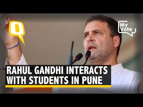 Rahul Gandhi Interacts With Students in Pune