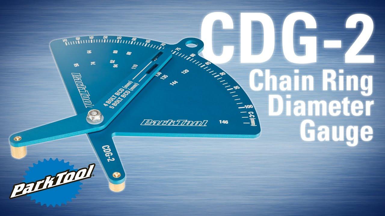 Park Tool CDG-2 BCD TOOL Chainring Bolt Circle Diameter Gauge
