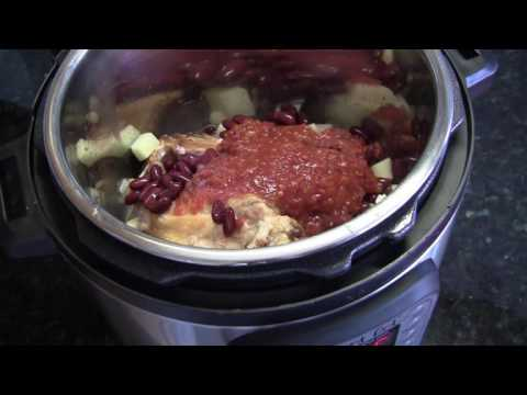 Суп фасолевый с копченостями в мультиварке