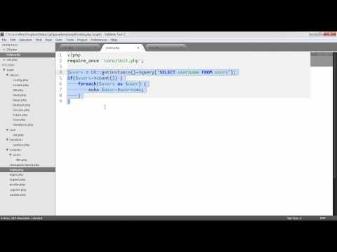 PHP OOP Login/Register System: Database (Part 7/23)