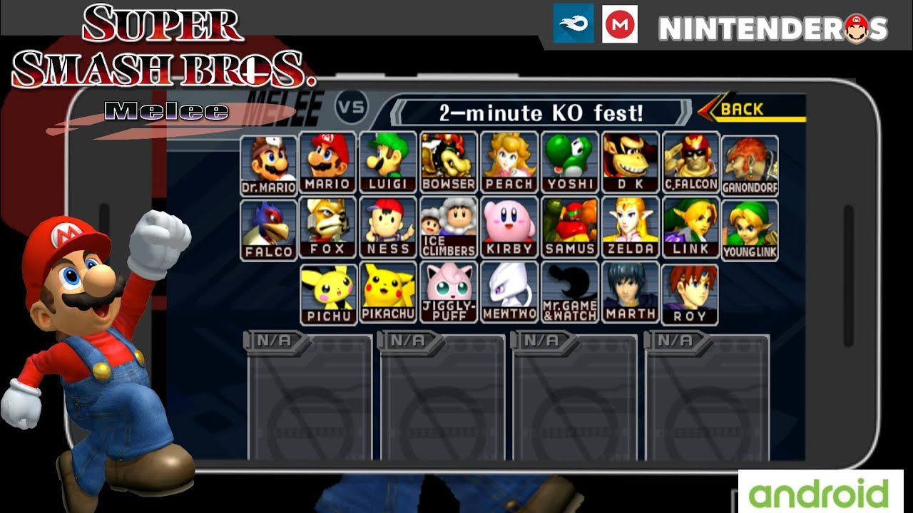 Súper smash bros melee 64 /rom hack