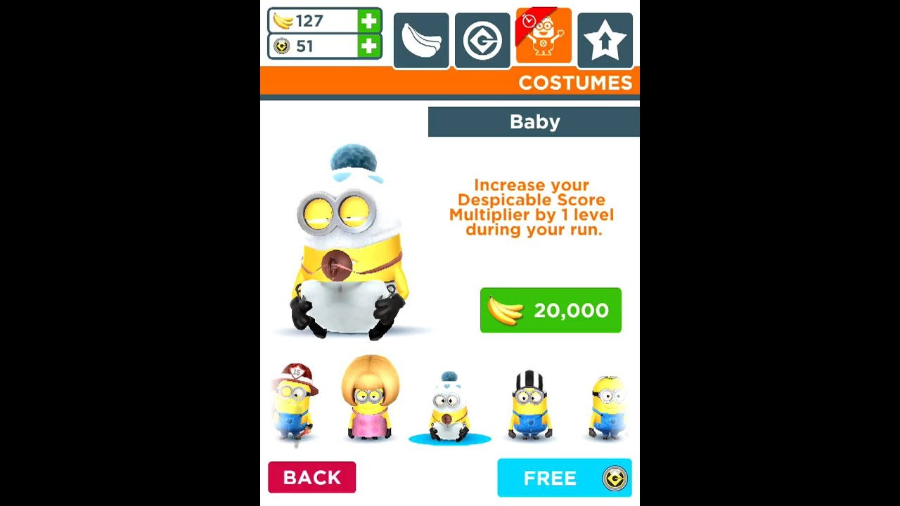 Baby Costume Minion Rush Despicable Me  sc 1 st  YouTube & Baby Costume: Minion Rush Despicable Me - YouTube
