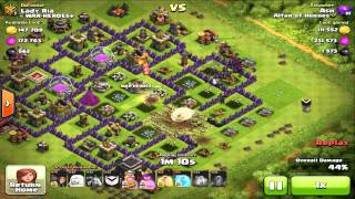 Clash of Clans - Immortal Super Queen + Earthquake in Action