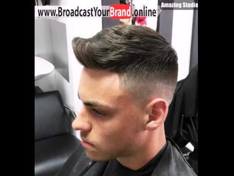 Quiff Haircut With Faded Sides Youtube