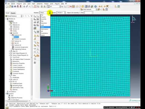 Simple XFEM example using ABAQUS 6.14