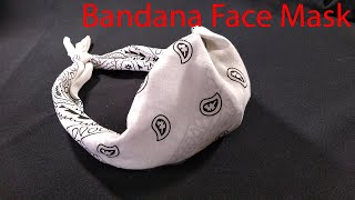 Quick Easy Hand Sew Bandana Face Mask Bandana Face Mask Tutorial How to make a Bandana Face Mask