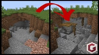 Transforming a Minecraft Cave into a House!