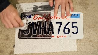 Removing Veil G5 from a license plate