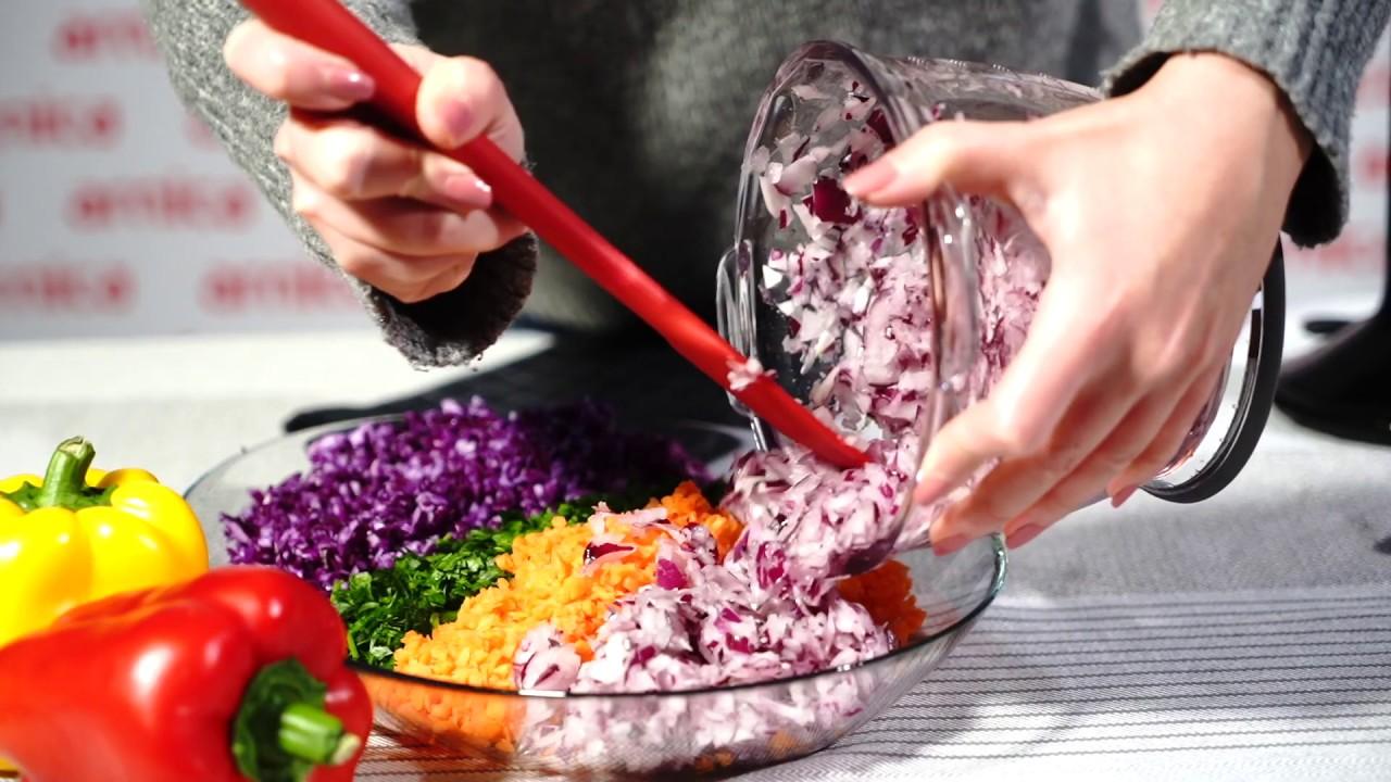 arnica panna el blender seti ile mevsim salata