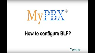 How to configure BLF?