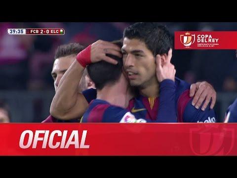 Golazo de Luis Suárez (2-0) en el FC Barcelona - Elche CF Copa del Rey