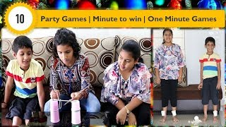 10 Party Games for Kids and adults   One minute Games   Minute to win it Games [2019]
