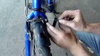 Замена тросика переднего тормоза на велосипеде