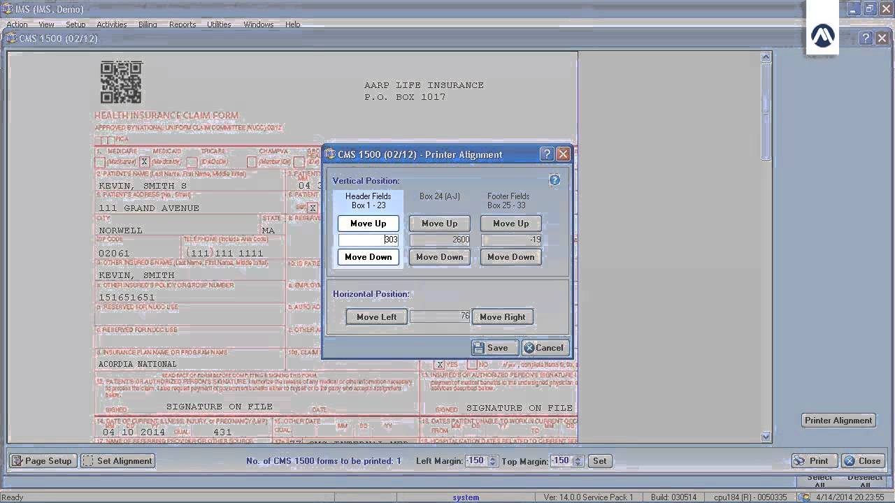 CMS 1500 Form Alignment - YouTube Cms Form Template Word Doent On on