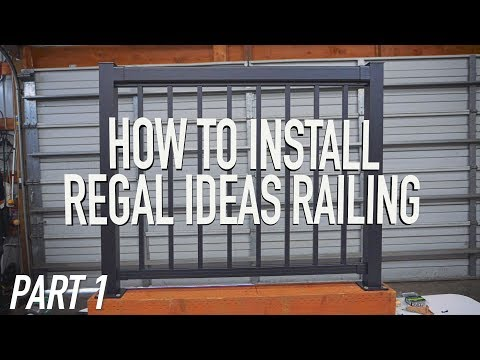 How To Install Regal Ideas Railing PART 1: Layout & Posts|| Dr Decks