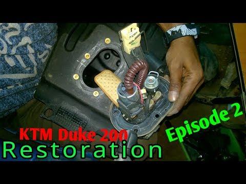 KTM Duke 200 fuel pump work Episode 2