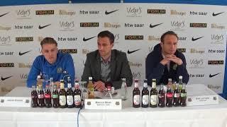 Stuttgarter Kickers - 1. FC Saarbrücken - Pressekonferenz vor dem Spiel (25. Spieltag)