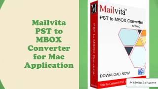 Migrate from Outlook PST to MBOX on Macintosh PC
