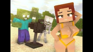 ✅ Monster School : NEW CLASSMATES SWIMMING - Minecraft Animation