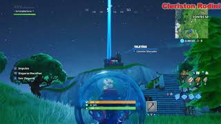 Fortnite-pass through the firing hoop by launching from a cannon