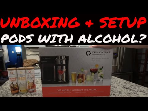 Drinkworks Home BAR by KEURIG - UNBOXING & SETUP Pods with ALCOHOL? - Just like their COFFEE Machine