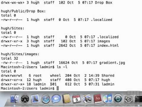 Mac 10.6 Tutorial Using the Sudo Command in Terminal