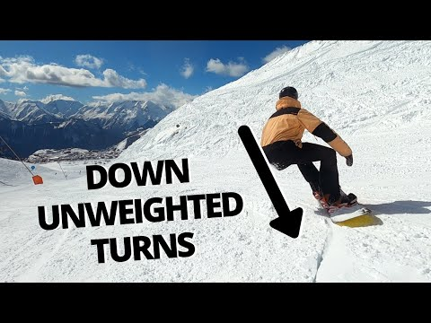 Down Unweighted Snowboard Turns