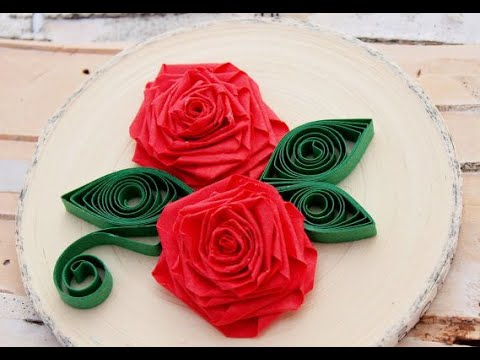 Origami Quilling Rose Diy Paper Crafts Youtube